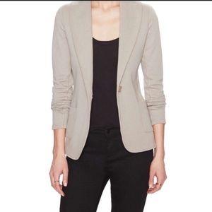 James Perse Shawl Collar Blazer Jacket: Khaki